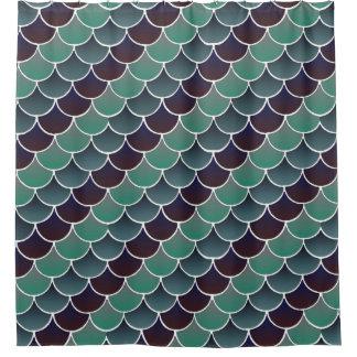 Aquatic Scales Shower Curtain