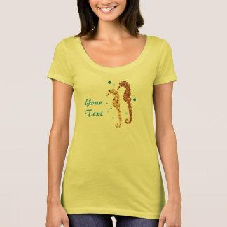Aquatic Seahorse Apricot T-Shirt