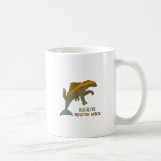 Aquatic Squatchy Badger Basic White Mug