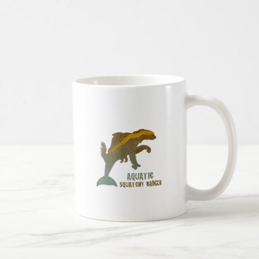 Aquatic Squatchy Badger Mug