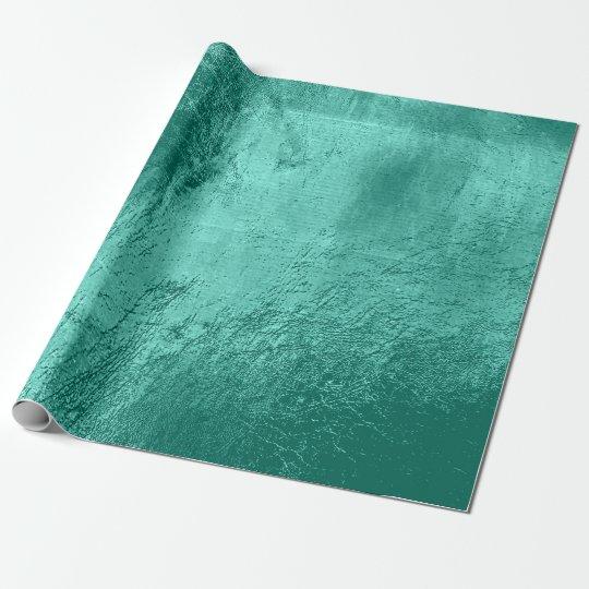 Aquatic Tiffany Blue Aqua Metallic Leather Urban Wrapping