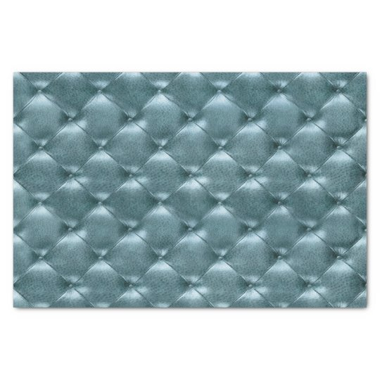Aquatic Tiffany Blue Metallic Tufted Leather Teal Tissue