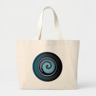 AquaWhirl Jumbo Tote Bag