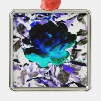 Aqueous Rose Christmas Ornament