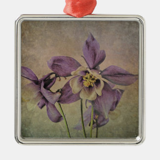 Aquilegia Delicate Textured . Christmas Ornament