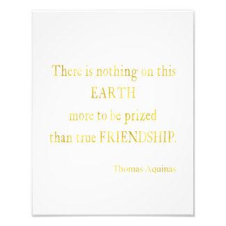 Aquinas Quote Friendship Faux Foil Inspirational Photo Print