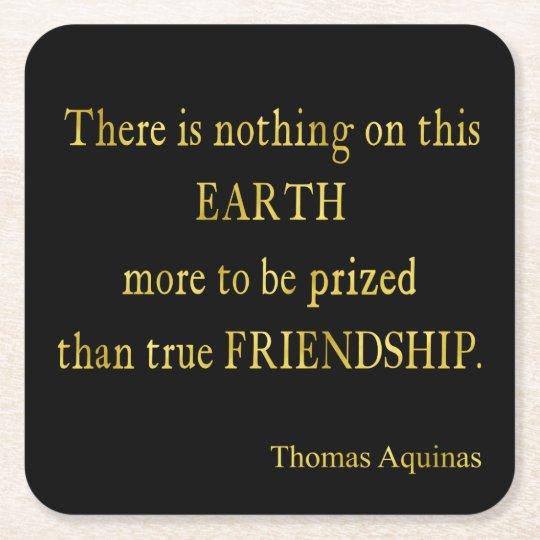 Aquinas Quote Friendship Faux Foil Inspirational Square Paper