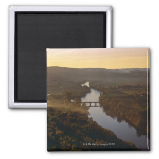 Aquitaine, Dordogne, Europe, France, River Square Magnet