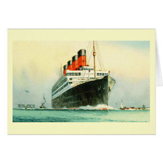 AQUITANIA CUNARD WHITE STAR LINE SHIP GREETING CARD