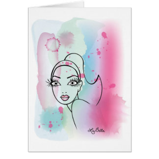 AquqBella Greeting Card - Lady