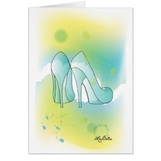 AquqBella Greeting Card - Shoes