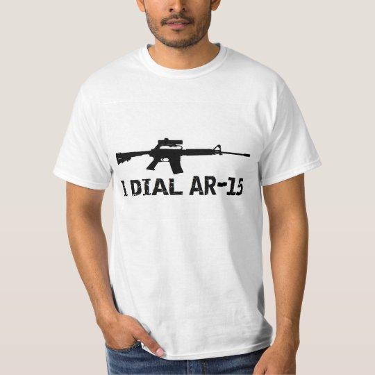 Ar15 2nd Amendment 'I DIAL AR-15' PRO GUN T-Shirt