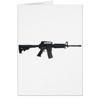 AR15 assault rifle Greeting Card