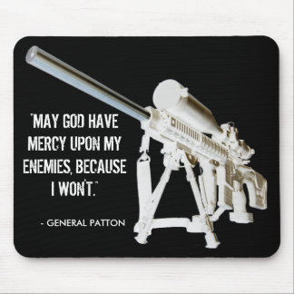 AR15 Mouse Pad- General Patton Quote Mouse Mat