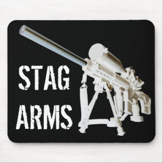 AR15 Mouse Pad- STAG ARMS- White