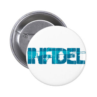 AR-15 INFIDEL Gun Rights Pro American Pinback Buttons