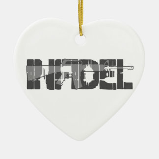 AR-15 INFIDEL Gun Rights Pro American Christmas Ornament