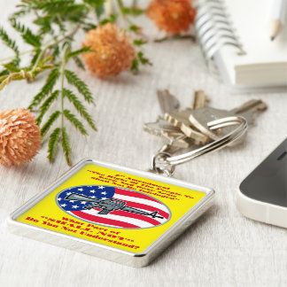 AR-15 What Part Of Shall Not Don't You Understand Silver-Colored Square Key Ring