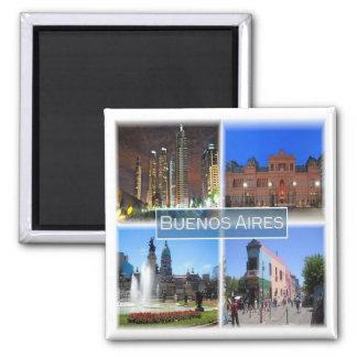 AR * Argentina - Buenos Aires - Mosaic Square Magnet