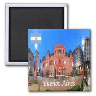 AR - Argentina - Buoenos Aires - Casa Rosada Square Magnet