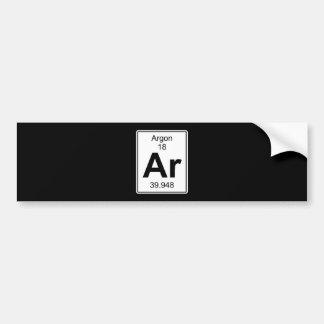 Ar - Argon Bumper Sticker