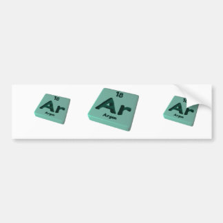 Ar Argon Bumper Sticker