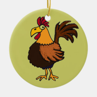 AR- Cartoon Rooster Ornament