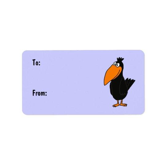 AR- Cute Crow Gift Tags Address Label