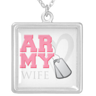 AR-MY Wife Square Pendant Necklace