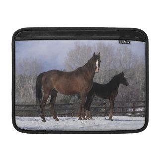 Arab Mare & Foal in Snow Sleeves For MacBook Air