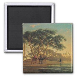 Arab Oasis, 1853 Square Magnet