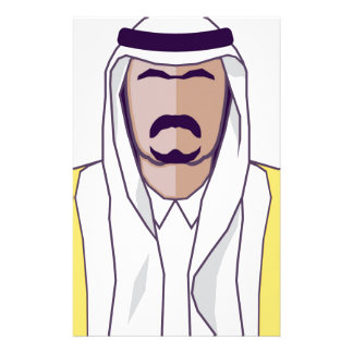 Arab Prince vector Personalised Stationery