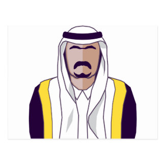 Arab Prince vector Postcard