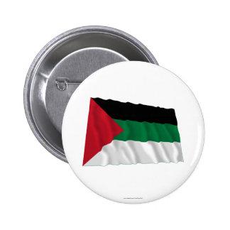 Arab Revolt Waving Flag 6 Cm Round Badge