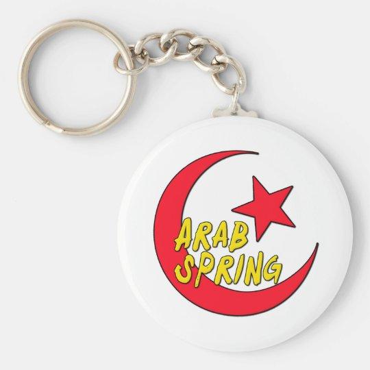 Arab Spring Basic Round Button Key Ring