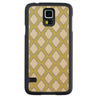Arab Style Pattern Carved Maple Galaxy S5 Case