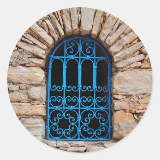 arab window morocco architecture agadir medina classic round sticker