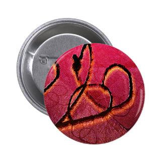 Arabesque Artistic Texture 6 Cm Round Badge