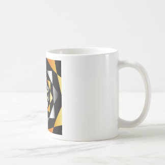 Arabesque background in metallic colors basic white mug
