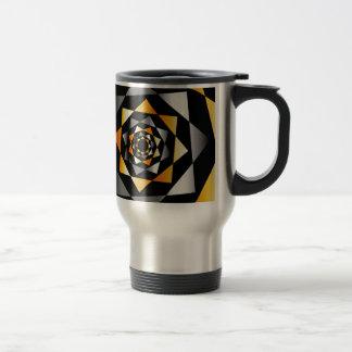 Arabesque background in metallic colors stainless steel travel mug