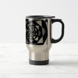 Arabesque background stainless steel travel mug