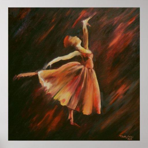 Arabesque Ballet Dancer - Canvas Print