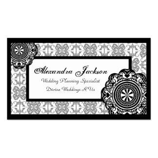 Arabesque Black Lace, Business Card