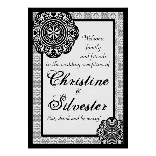 Arabesque Black Lace, reception welcome poster*