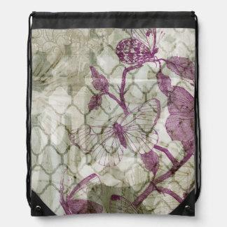 Arabesque Butterflies IV Drawstring Bag