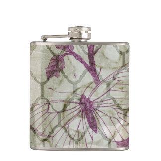 Arabesque Butterflies IV Hip Flask