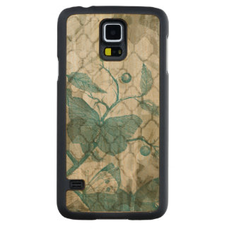 Arabesque Butterflies V Carved Maple Galaxy S5 Case