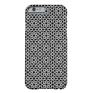 Arabesque mosaic of Morocco and geometric black Barely There iPhone 6 Case