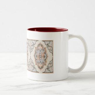 Arabesque Mosaics Two-Tone Coffee Mug