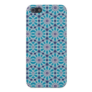 Arabesque Pattern In Blue And Grey Case For iPhone 5/5S